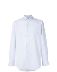 Chemise de ville à rayures verticales blanche Finamore 1925 Napoli