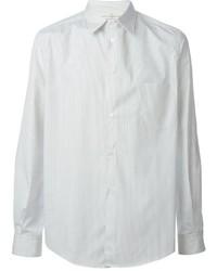 Chemise de ville à rayures verticales blanche Golden Goose Deluxe Brand