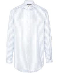 Chemise de ville à rayures verticales blanche Gucci