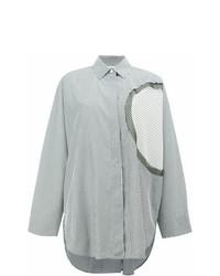 Chemise de ville à rayures verticales blanche Maison Margiela