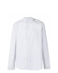Chemise de ville à rayures verticales blanche Nn07