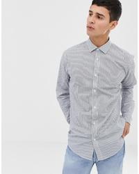 Chemise de ville à rayures verticales blanche ONLY & SONS