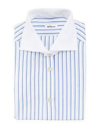 Chemise de ville à rayures verticales bleu clair