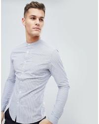 Chemise de ville à rayures verticales bleu clair ASOS DESIGN