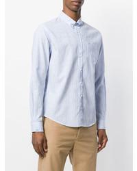 Chemise de ville à rayures verticales bleu clair Sun 68