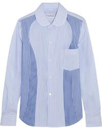 Chemise de ville à rayures verticales bleu clair Comme des Garcons