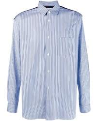 Chemise de ville à rayures verticales bleu clair Comme Des Garcons SHIRT