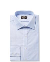 Chemise de ville à rayures verticales bleu clair Emma Willis