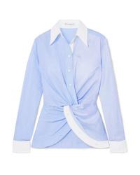 Chemise de ville à rayures verticales bleu clair JW Anderson