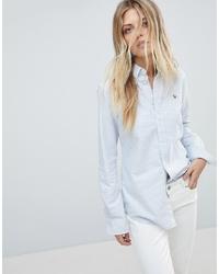 Chemise de ville à rayures verticales bleu clair Polo Ralph Lauren