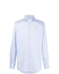 Chemise de ville à rayures verticales bleu clair Xacus