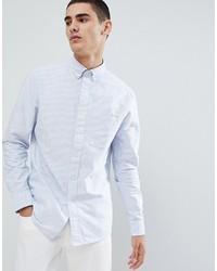 Chemise de ville à rayures verticales bleue claire Calvin Klein