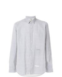 Chemise de ville à rayures verticales bleue claire Dnl