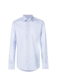 Chemise de ville à rayures verticales bleue claire Fashion Clinic Timeless