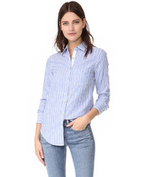 Chemise de ville à rayures verticales bleue Rag & Bone