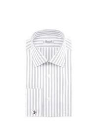 Chemise de ville à rayures verticales grise