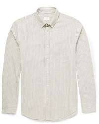 Chemise de ville à rayures verticales grise Club Monaco