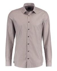 Chemise de ville à rayures verticales grise Olymp