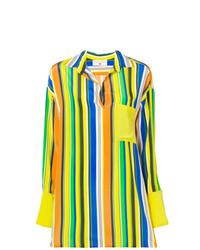 Chemise de ville à rayures verticales multicolore Daniela Pancheri