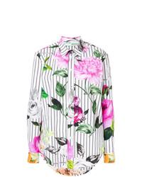 Chemise de ville à rayures verticales multicolore Off-White