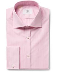 Chemise de ville à rayures verticales rose Dunhill