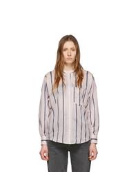 Chemise de ville à rayures verticales rose Isabel Marant Etoile