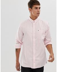 Chemise de ville à rayures verticales rose Tommy Hilfiger