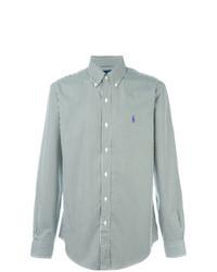 Chemise de ville à rayures verticales vert menthe Polo Ralph Lauren