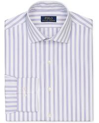 Chemise de ville à rayures verticales violet clair