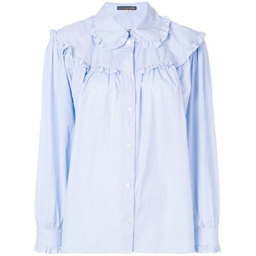 Chemise de ville à volants bleu clair Alexa Chung