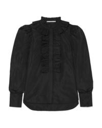 Chemise de ville à volants noire Stella McCartney