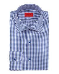 Chemise de ville blanc et bleu marine