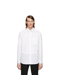 Chemise de ville blanche Burberry