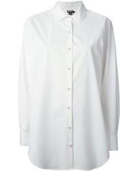 Chemise de ville blanche DKNY
