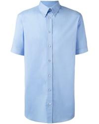 Chemise de ville bleu clair Alexander McQueen