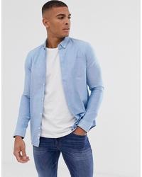 Chemise de ville bleu clair Burton Menswear