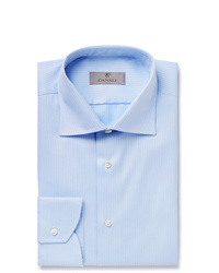 Chemise de ville bleu clair Canali