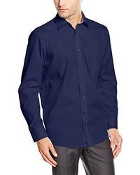 Chemise de ville bleu marine Casamoda