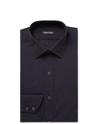 Chemise de ville bleu marine Tom Ford
