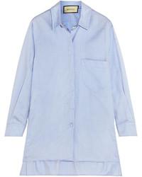 Chemise de ville bleue claire Gucci