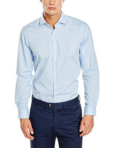 Chemise de ville bleue claire Strellson Premium