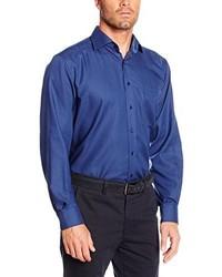 Chemise de ville bleue Eterna Mode GmbH