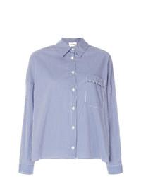 Chemise de ville écossaise blanc et bleu Semicouture