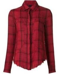 Chemise de ville écossaise rouge