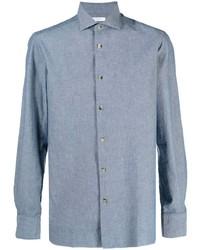 Chemise de ville en chambray bleu clair Boglioli