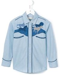 Chemise de ville en denim bleu clair Stella McCartney