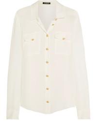 Chemise de ville en soie blanche Balmain