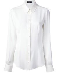 Chemise de ville en soie blanche Dolce & Gabbana