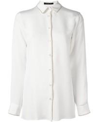 Chemise de ville en soie blanche Etro