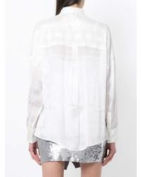 Chemise de ville en soie blanche IRO